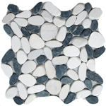 Buy Polished Black and White Pebble Tile at Discount Prices!
