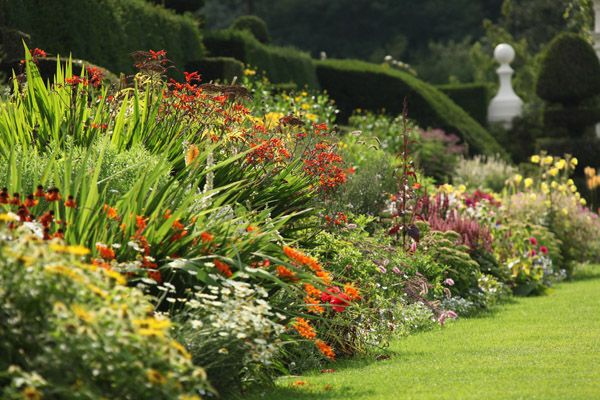 Arley Hall & Gardens herbaceous border Cheshire