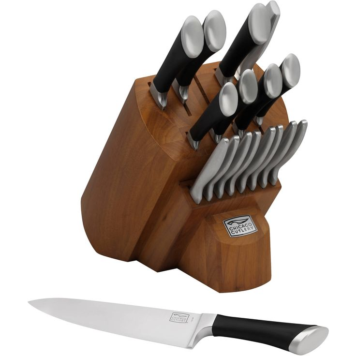 Get professional results in any home kitchen with the Chicago Cutlery Fusion 18 Piece Knife Set. This comprehensive set comes with eight steak knives plus a parer, peeler, utility, chef, slicer, bread, partoku and santoku knife and a sharpening steel. This professional knife set has a sleek and contemporary styling. The knives can all be stored together in the included bamboo stained pine wood block. The high-carbon stainless steel knife set feat ** Find out more about the great product at…