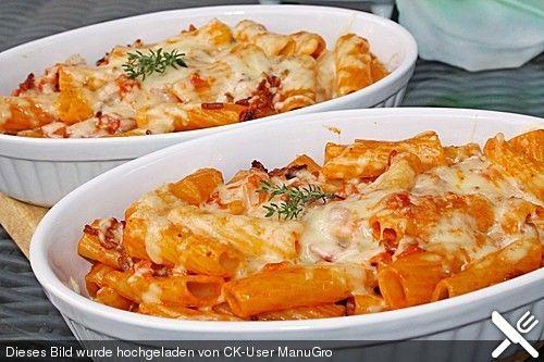 Rigatoni al forno, ein sehr schönes Rezept aus der Kategorie Hauptspeise. Bewertungen: 245. Durchschnitt: Ø 4,5.