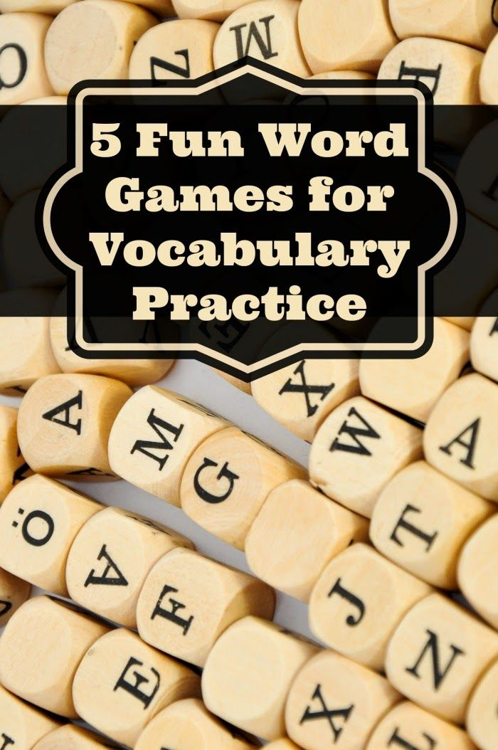 5 Fun Word Games for Vocabulary Practice - great ways to motivate reluctant students!