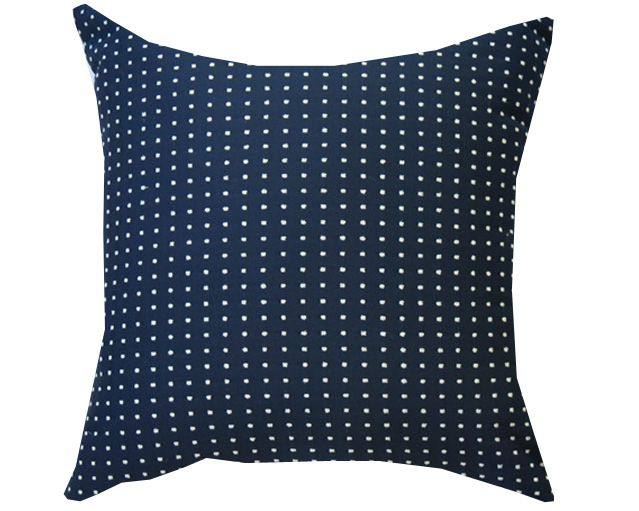 Navy & White Spot Outdoor Cushion RRP $60