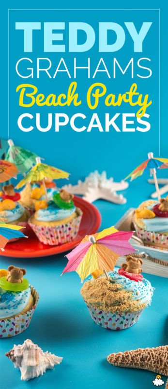 Teddy Grahams Beach Party Cupcakes Are The Cutest Summer Treat