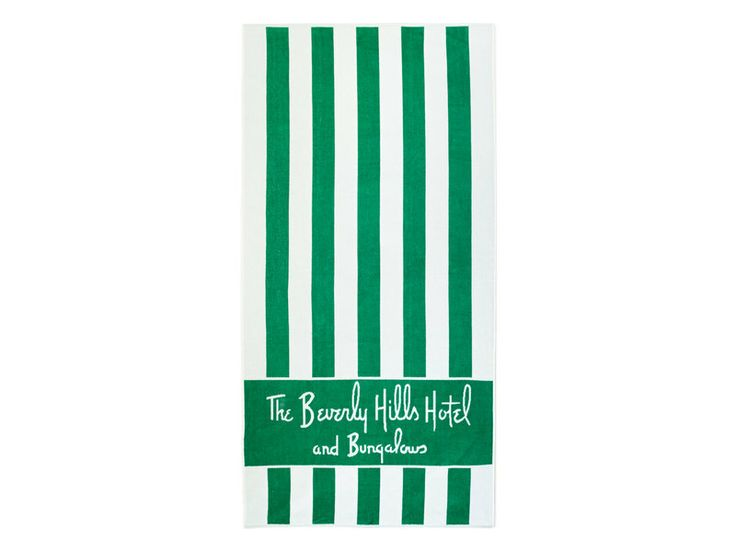 The Beverly Hills Hotel | Dorchester Collection Beach Towel | Shop AHAlife