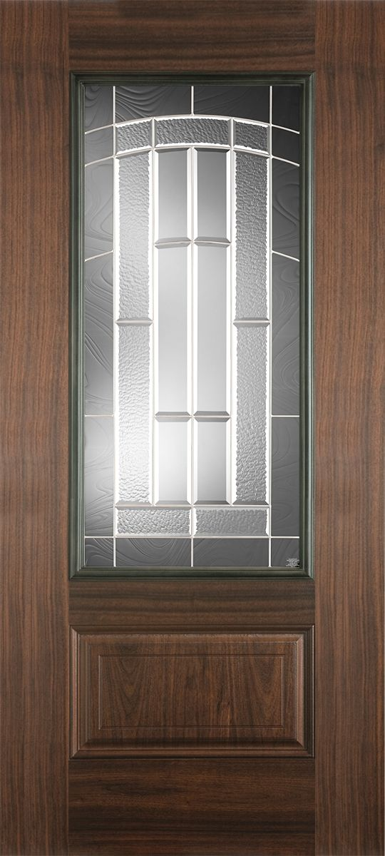 Fiberglass doors belleville avantguard black walnut for Special order doors