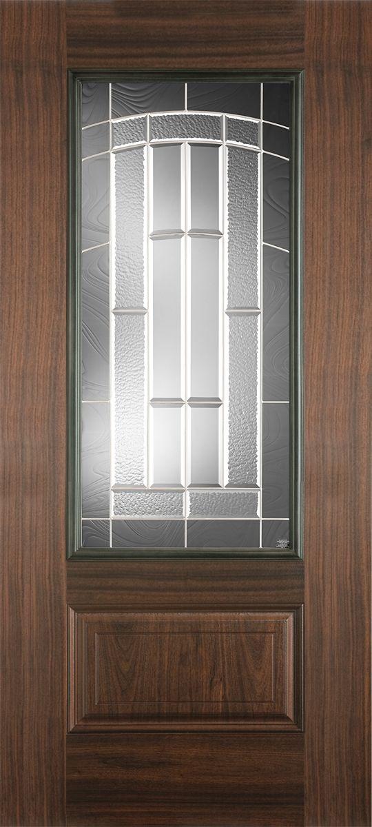 Fiberglass Doors Belleville Avantguard Black Walnut