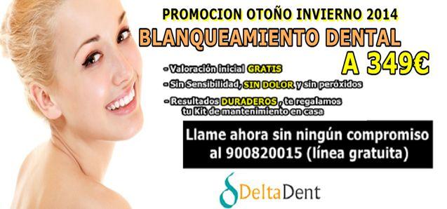 ¿Necesitas un blanqueamiento dental? Mira nuestras promociones para hacerte uno en la clínica dental de Madrid Deltadent.