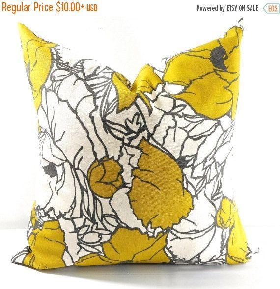 SALE Citrine Natural Pillow case. Sham by TwistedBobbinDesigns
