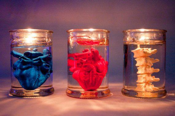 heart & back bone in jar candle 150ml