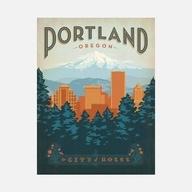 This is for Talia.: Rose, Favorite Places, Art, Illustration, Travel Posters, Vintage Travel, Design Group, Anderson Design, Portland Oregon