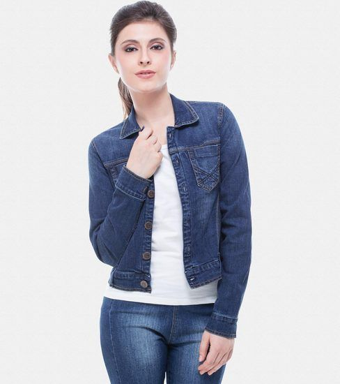 Dark Blue Denim Jacket Online | Buy Zovi Jacket India. | style