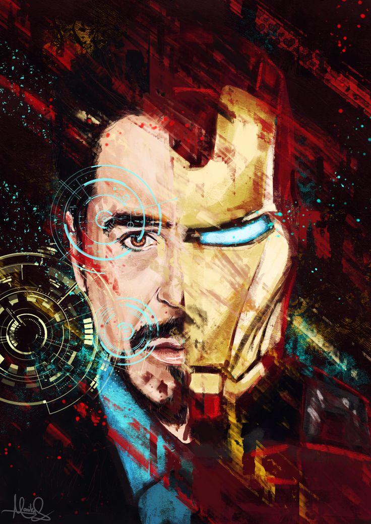 Tony Stark | by MoishPain @ DeviantART.com // #marvel; iron man