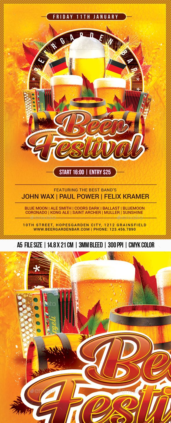Beer Festival Beer Festival Drinking Games For Parties Restaurant Flyer