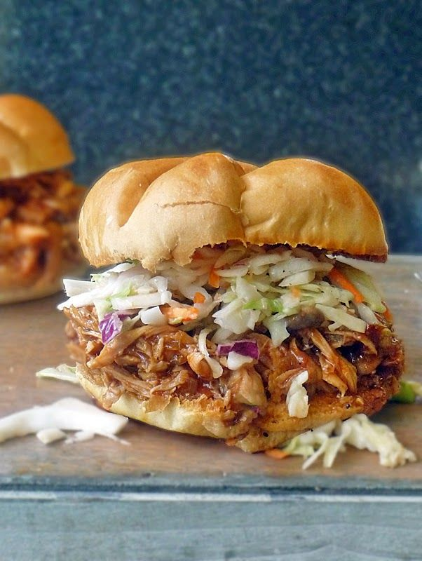 Barbecue Pulled Chicken Sandwich | by Life Tastes Good is mouthfuls of tangy sweet happiness!