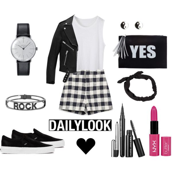 daily look by andreeamoldo on Polyvore featuring Yves Saint Laurent, Zara, Vans, Spallanzani, Klein & more, River Island, NLY Accessories and NYX