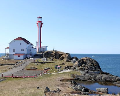Unusual style of lighthouse, Yarmouth Nova Scotia