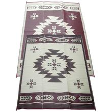 6 x 9 Navajo Outdoor Mat - Love the look of Southwest design? Then this outdoor mat will fit with that decor! They are reversible and very easy to clean just use a garden hose and let air dry! #outdoormat