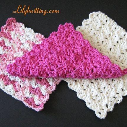 Free Crochet Patterns For Dishcloths Easy : Very Easy Crochet Dishcloth Patterns PATTERN ? Crocheted ...