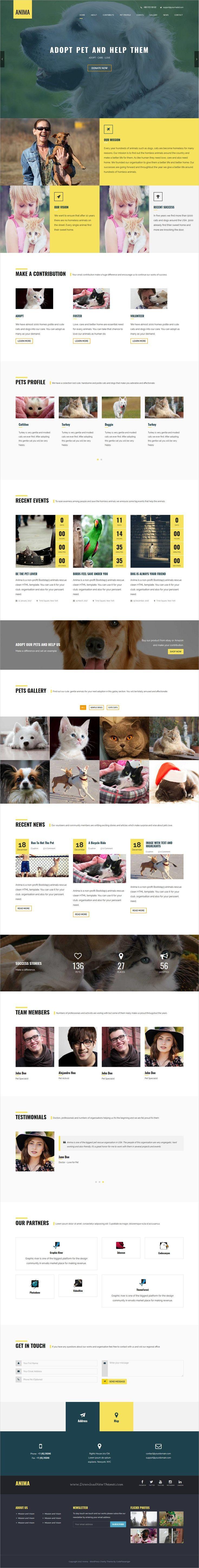 Anima is a responsive #WordPress theme for #pet rescue, #animal shelter, #charity, fundraising or non-profit organization websites download now➩ https://themeforest.net/item/cooper-creative-responsive-personal-portfolio-wordpress-theme/19301592?ref=Datasata