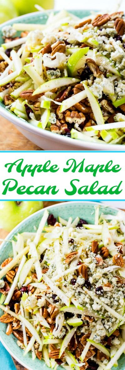 Apple Maple Pecan Salad with blue cheese