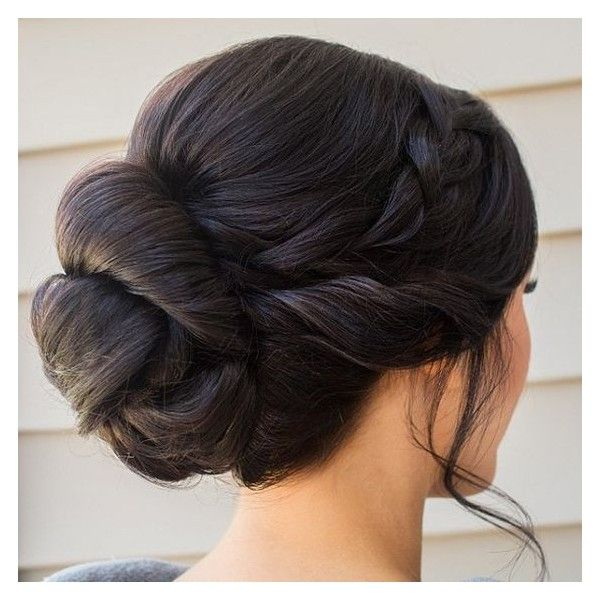 20 Great Braided Updo Hairstyles for Girls ❤ liked on Polyvore featuring hair