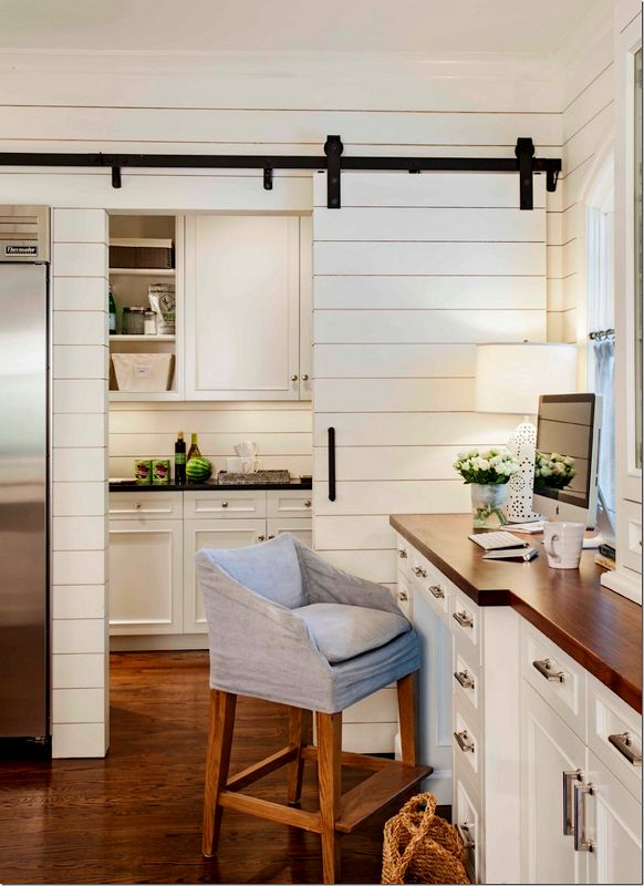 Shiplap Barn Door Gives A Seamless Look Shutters And