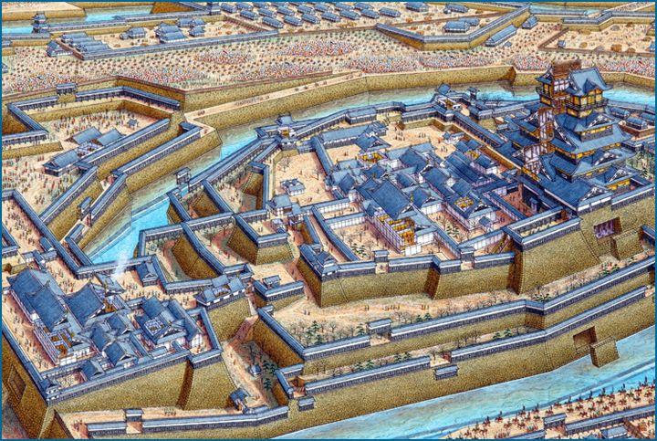 Stephen Biesty - Illustrator - Cutaway Panoramas - Osaka Castle