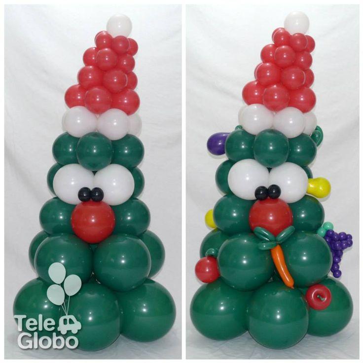 rbol de navidad de globos para una verdulera