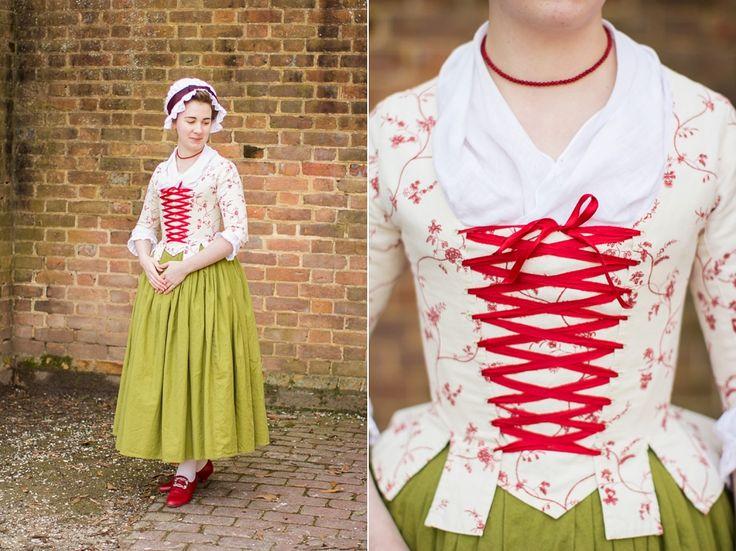 Mode de Lis: · Red & Cream 1770s Jacket ·