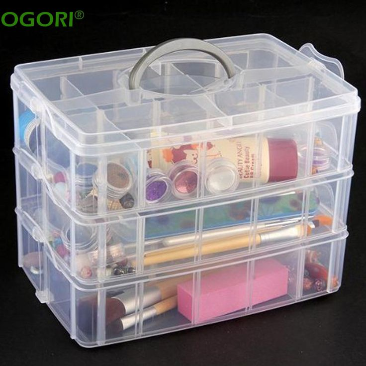 30 Grids Plastic Storage Box Portable Detachable Home Organizer Transparent Makeup Organizer porta joias