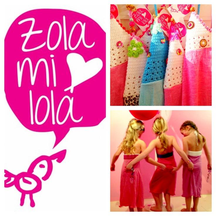 Jurkjes en hempjes van Zolamilola!! Handmade, unieke jurkjes met kralen, bloemen, schelpen en in alle kleuren van de regenboog.