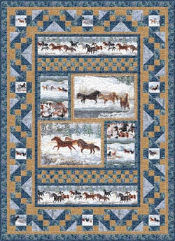 South Seas Goldrick Winter Horses Quilt Pattern Love this quilt...anyone want to make it for me???