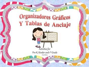 Organizadores Gráficos y Tablas de Anclaje  Organizadores Gráficos y Tablas de Anclaje includes 16 anchor charts and over 50 graphic organizers in spanish.  I have included a completed anchor chart for display, a blank anchor chart to be filled out together as a class and at least 1 additional graphic organizer per skill.  The skills included are   Autor e Ilustrador Elementos del Cuento Personajes Ambiente Rasgos del Personaje Secuencia de Eventos Causa y Efecto Problema y Solución…