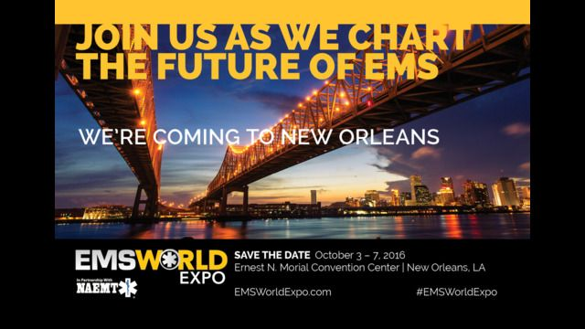 EMS World is currently accepting abstracts for consideration for the 2016 EMS World Expo, scheduled for October 3–7, 2016, in New Orleans, LA.
