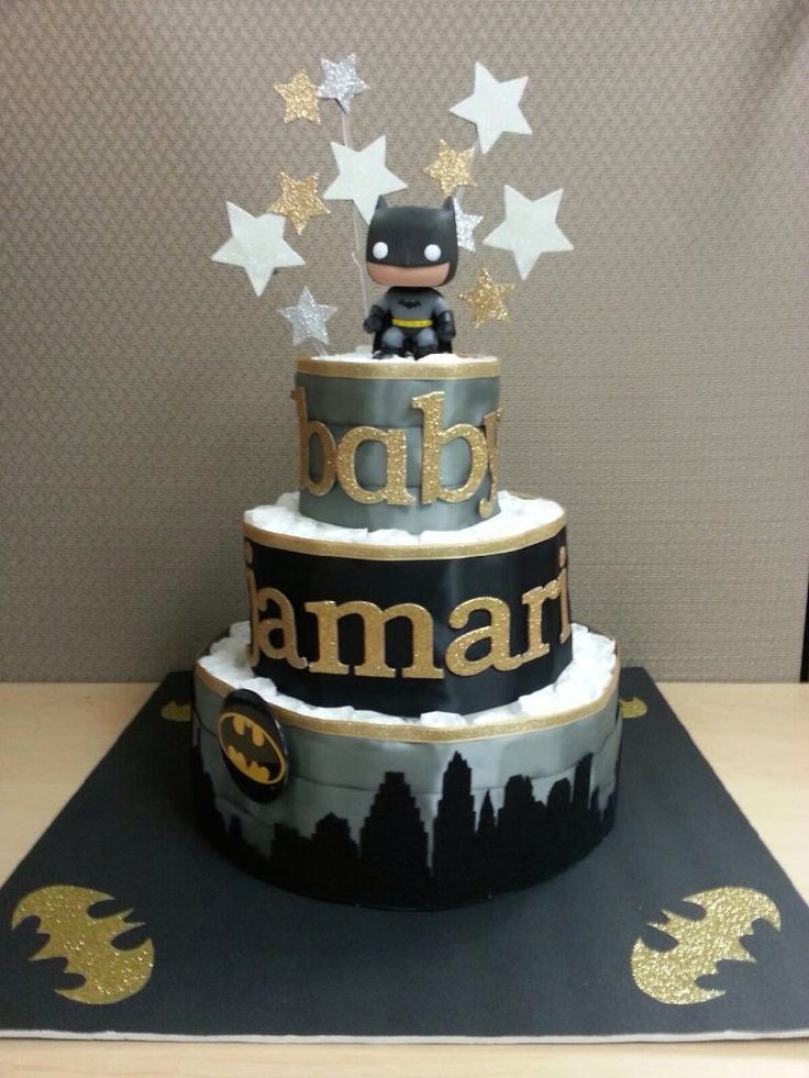 Batman themed baby shower