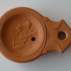 Lampe à huile romaine phacochère lampe à huile romaine