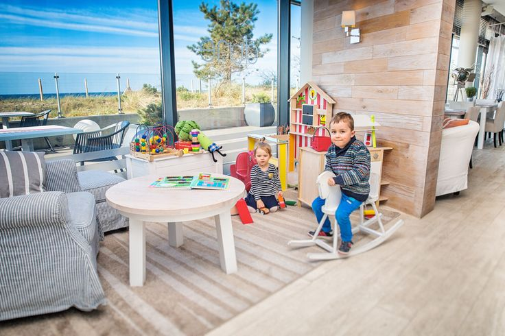 Kids are very welcome! Kids corner @ Dune Restaurant Cafe Lounge in Mielno, Poland