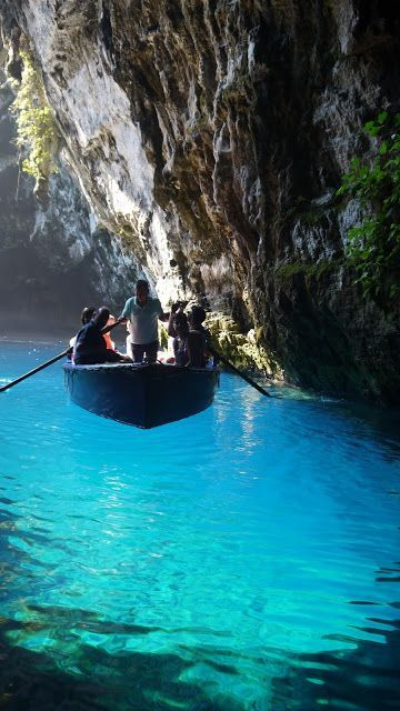 greek-highlights:  Melissani Caves, Kefalonia island,Greece