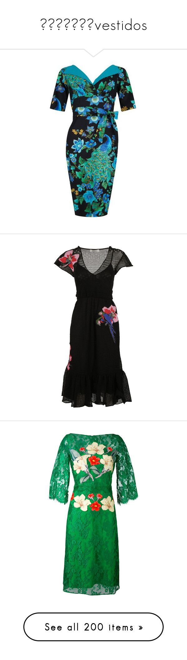 👗👗👗👗👗👗👗vestidos by georginalan on Polyvore featuring polyvore, women's fashion, clothing, dresses, pencil dresses, 3 4 length sleeve dress, 3/4 sleeve dresses, peacock feather dress, three quarter length sleeve dress, black, womenclothingdresses, valentino dress, flower embroidered dress, blossom dress, flower dress, v neckline dress, green, lace dress, green lace cocktail dress, floral print dress, floral dresses, floral pattern dress, mirrored dress, mirror dresses, lacy dress…