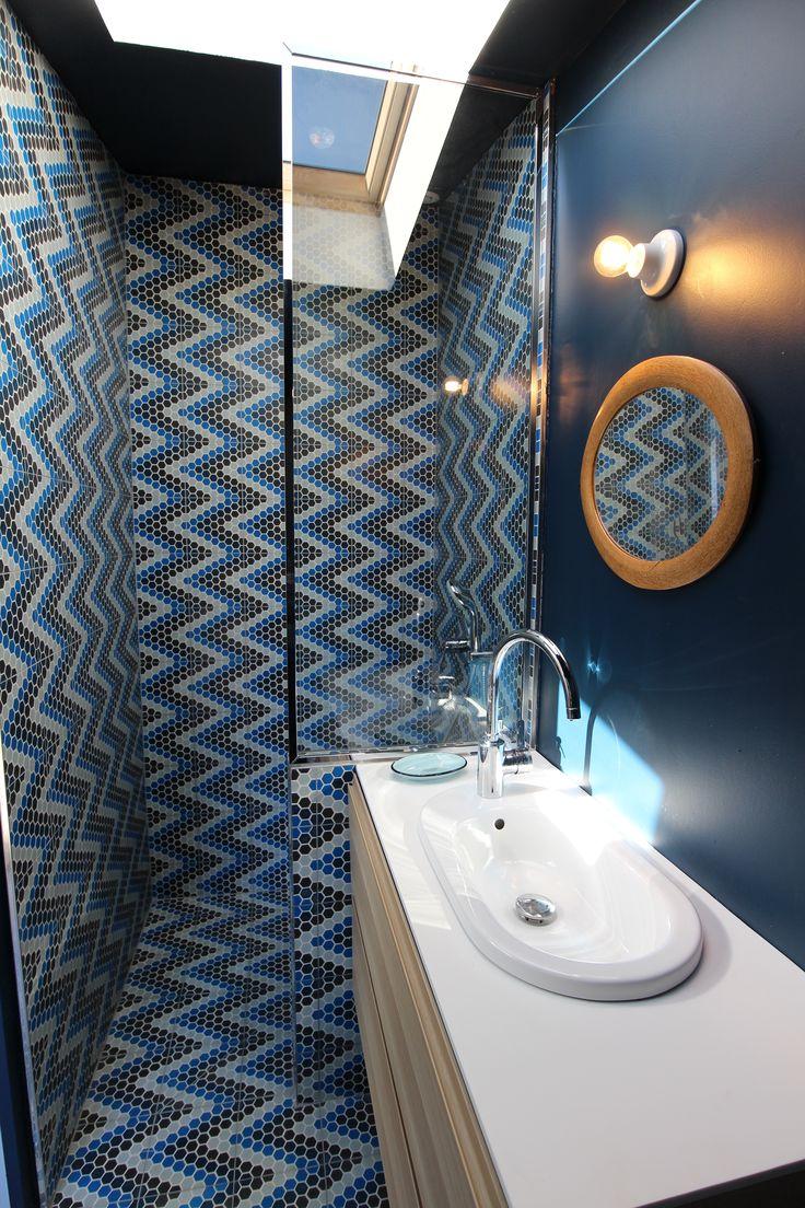 R novation d 39 une maison belle ile en mer carreaux - Belle mere dans la salle de bain ...