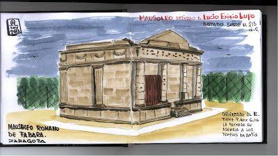 de vuelta con el cuaderno: EL MAUSOLEO ROMANO DE FABARA