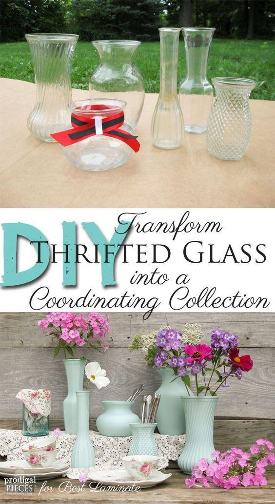 Thrift Store Glass Made New ~ Budget DIY