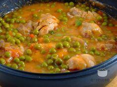 Mancarica de mazare cu carne de pui - Chicken with peas