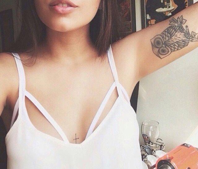 inner arm owl tattoo gallery