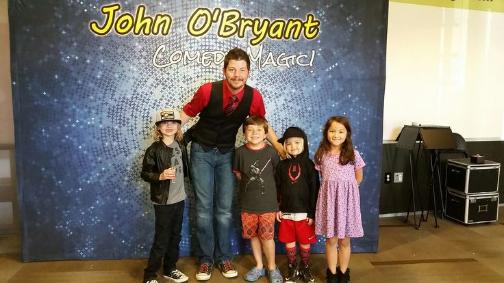 We had a blast with the Magician John O'Bryant's high energy show! It was filled with magic, illusion, props, comedy, and mind reading! #laketravis #library #magician