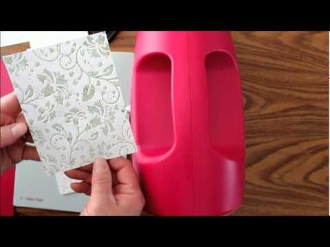 Video showing embossing folders techniques with INKS and other materials! You have to see this to believe it! It is done with the spellbinders grand calibur, but you can use any type of die cutting machine that embosses as well.