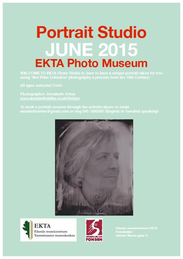 Get your next profile picture taken at the exhibition of a photographer's studio from the 1940s. #EKTAMuseumcenter #Raseborg #Ekenäs #photograph #Studio #wetplate