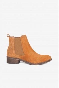 Boots élastiquées ocre
