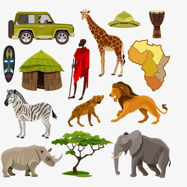Cartoon Comics Animal Illustration Cartoon Animals Living World Land Animals Character Elephant Car Zebra Rhinoce Cartoon Icons Africa Animals Cartoon Clip Art