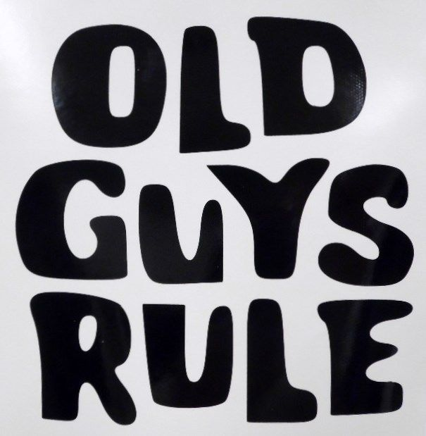 Old Guys Rule Funny Car Truck Window Vinyl Decal Sticker Choose Color